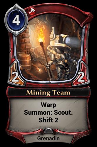 Mining Team card