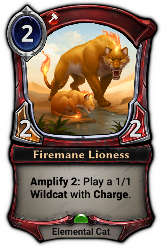 Firemane Lioness card
