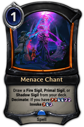 Menace Chant card