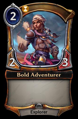 Bold Adventurer card