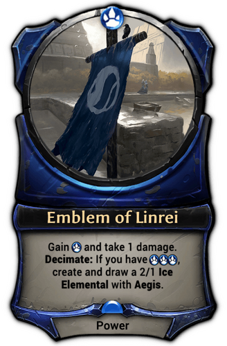 Emblem of Linrei card