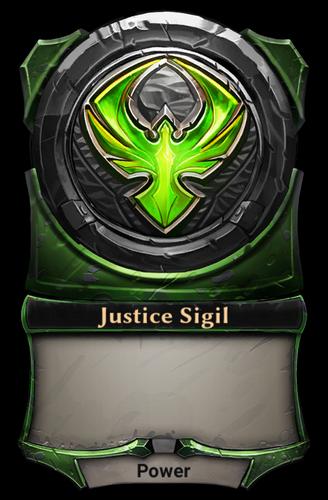 Justice Sigil card