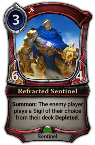Refracted Sentinel card