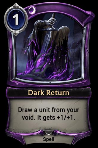 Alternate-art Dark Return card