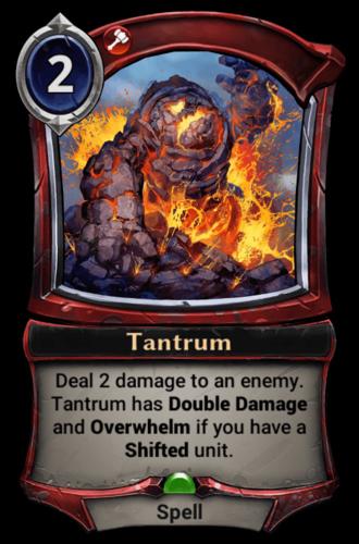 Tantrum card