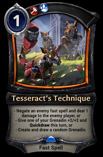 Tesseract's Technique card