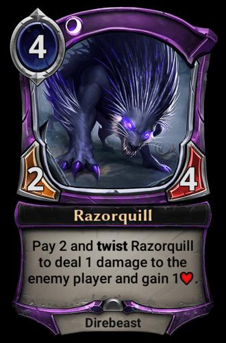 Razorquill card