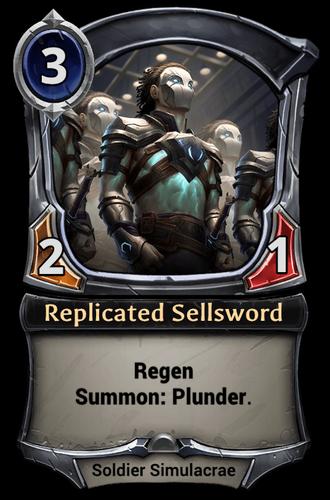 Replicated Sellsword card