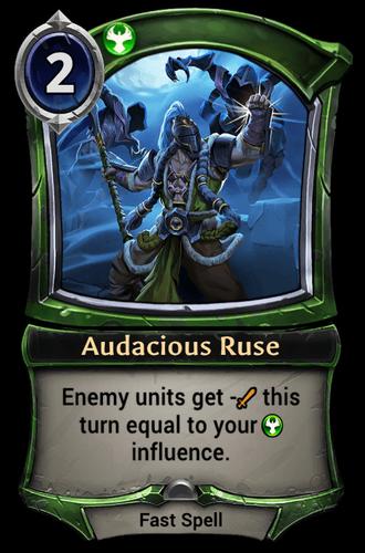 Audacious Ruse card