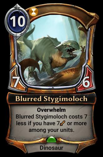 Blurred Stygimoloch card