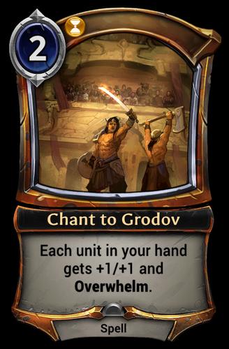 Chant to Grodov card