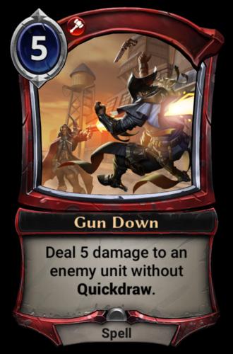 Gun Down card