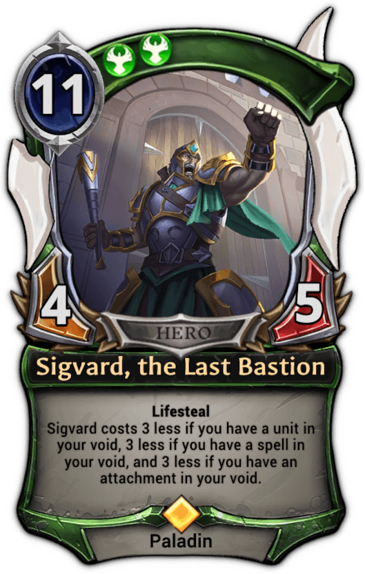 Sigvard, the Last Bastion card