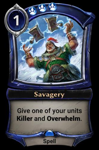 Savagery card