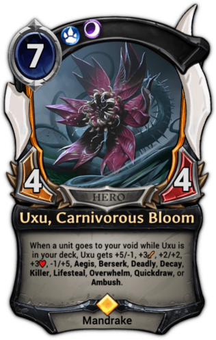 Uxu, Carnivorous Bloom card