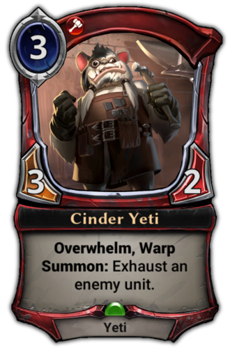 Cinder Yeti card