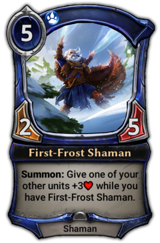 First-Frost Shaman card