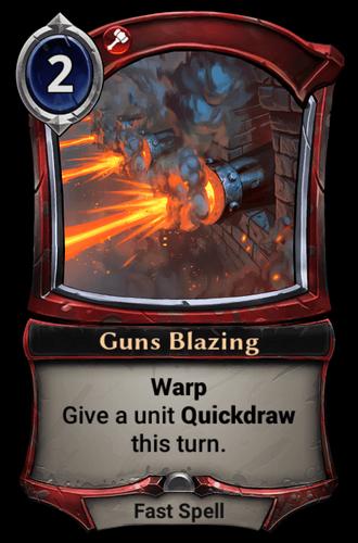 Guns Blazing card