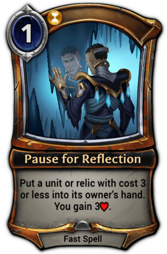 Pause for Reflection card