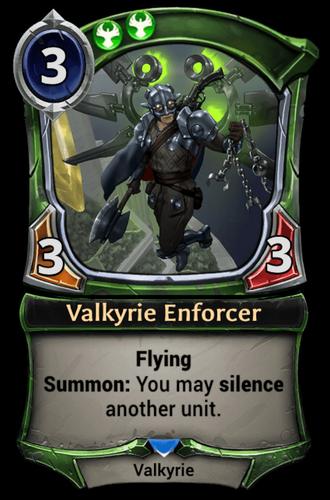 Alternate-art Valkyrie Enforcer card