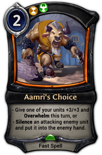 Aamri's Choice card