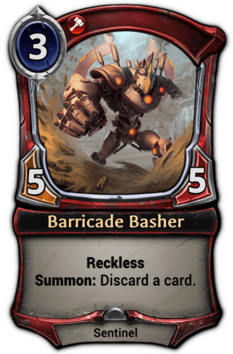 Barricade Basher card