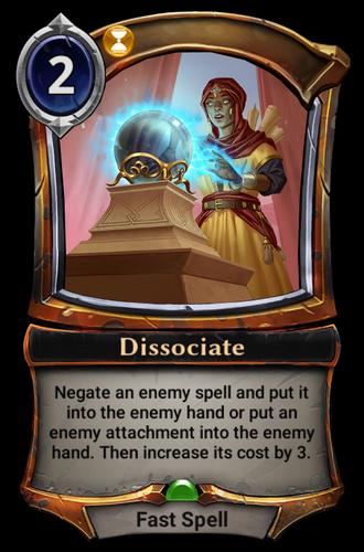 Dissociate card