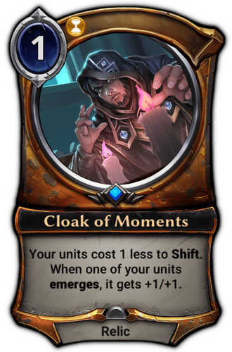 Cloak of Moments card