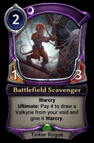 Battlefield Scavenger card