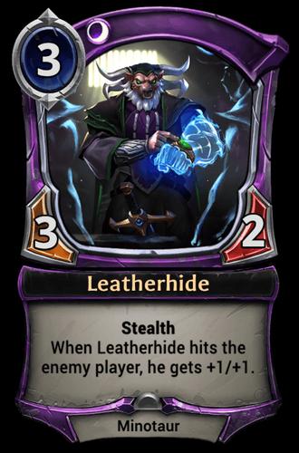 Leatherhide card