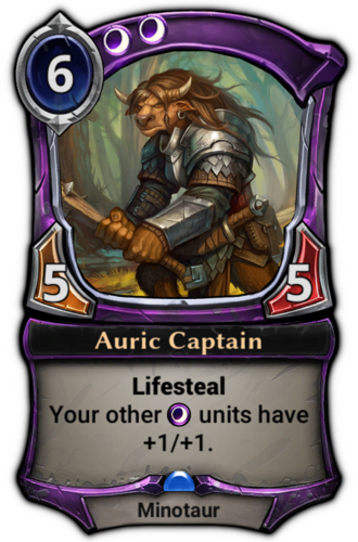 Auric Captain card