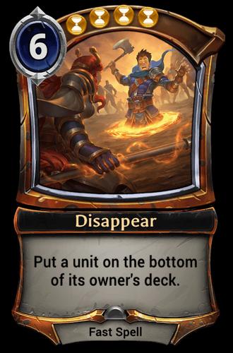 Disappear card