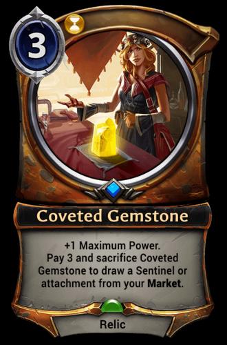 Coveted Gemstone card