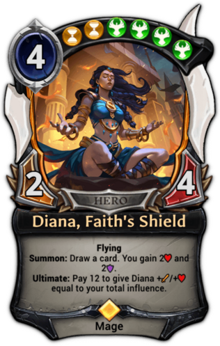 Diana, Faith's Shield card