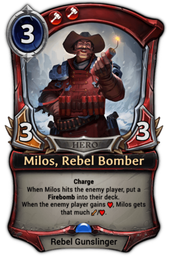 Milos, Rebel Bomber card