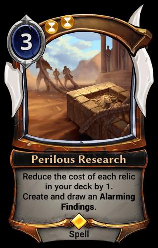 Perilous Research card