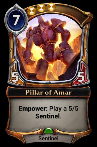 Pillar of Amar card