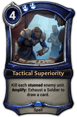 Tactical Superiority card