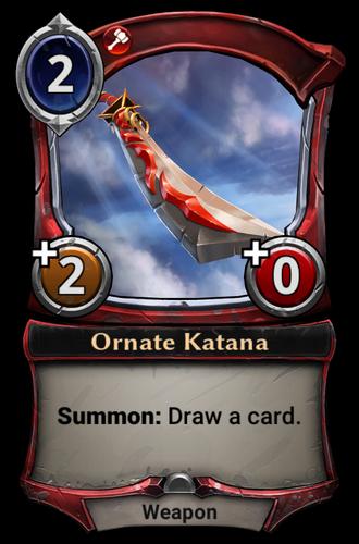 Ornate Katana card