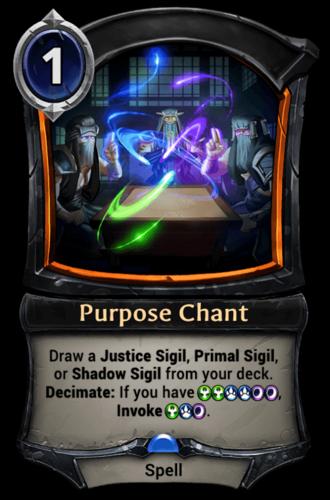 Purpose Chant card