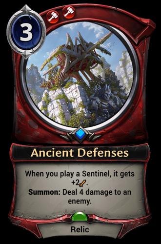 Ancient Defenses card