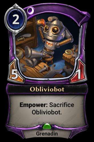 Obliviobot card