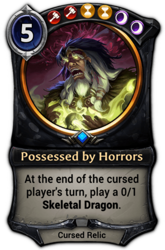 Possessed by Horrors card