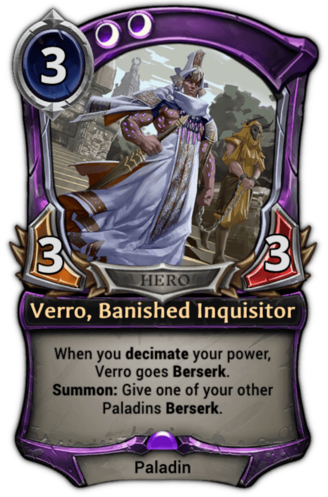 Verro, Banished Inquisitor card