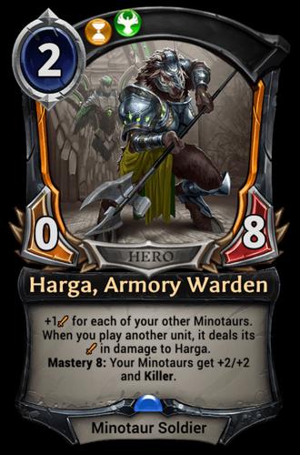 Harga, Armory Warden card