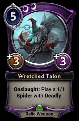 Wretched Talon card
