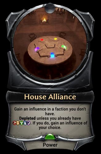 House Alliance card