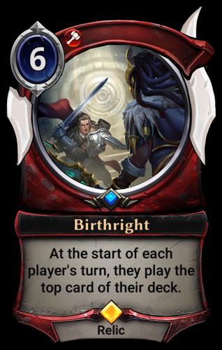 Birthright card