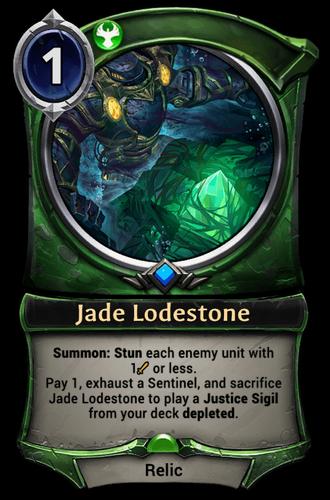 Jade Lodestone card