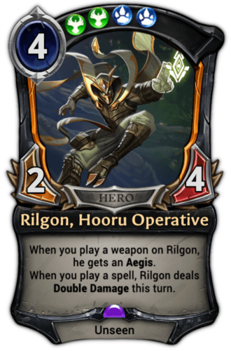 Rilgon, Hooru Operative card